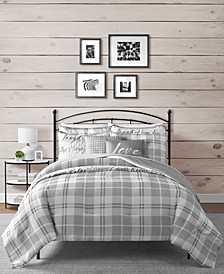 Gingham 8-Pc. Reversible California King Comforter and Coverlet Set
