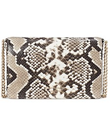Spencer Python-Embossed Chain Wallet