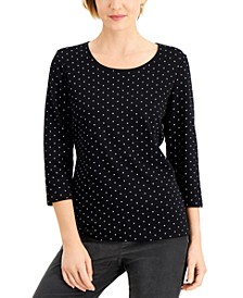 Table Dot Printed Top, Created for Macy's