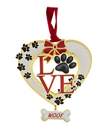 Dog Love Ornament