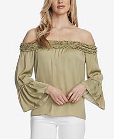 Women's Bell Sleeve Off Shoulder Blouse