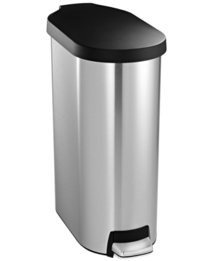 simplehuman Brushed Stainless Steel & Plastic Lid 45 Liter S