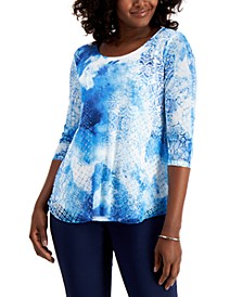 Mixed-Print Top, Created for Macy's