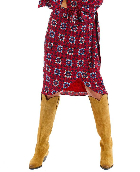 ALLISON NEW YORK Women's Kaleidoscope Wrap Skirt