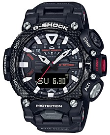 Men's Analog-Digital GravityMaster Connected Black Resin Strap Watch 63mm