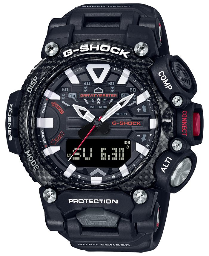 G-Shock - Men's Analog-Digital GravityMaster Connected Black Resin Strap Watch 63mm