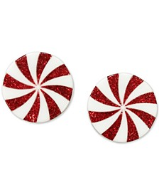 INC Red Peppermint Button Earrings, Created for Macy's