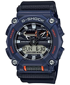 Men's Analog-Digital Blue Resin Strap Watch 50mm