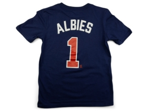 Nike Atlanta Braves Youth Name and Number Player T-Shirt Ozzie Albies
