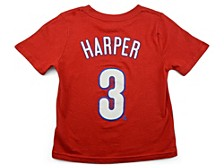 Philadelphia Phillies Bryce Harper Toddler Name and Number Player T-Shirt