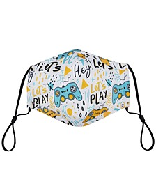 Kid's Let's Play Printed Face Mask