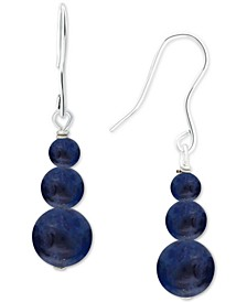 Sodalite Graduated Bead Drop Earrings in Sterling Silver, Created for Macy's
