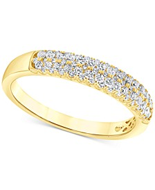Diamond Multi-Row Band (1/2 ct. t.w.) , in 14k Gold or 14k White Gold