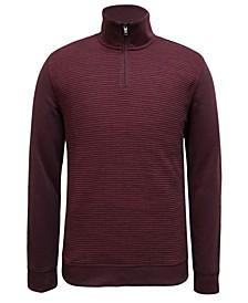 Men's Textured Colorblocked Quarter-Zip Sweater, Created for Macy's