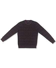 Alfani Men's Ottoman Textured Crewneck Sweater, Created for Macy's