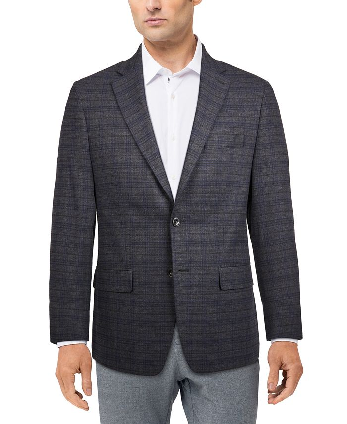 Michael Kors - Men's Modern-Fit Plaid Sport Coat