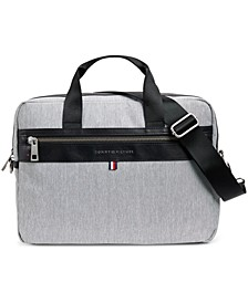 Men's Leo Heathered Briefcase, Created for Macy's