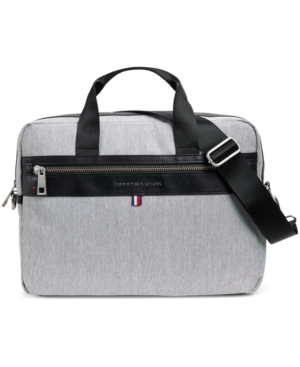 Tommy Hilfiger Men's Leo Heathered Briefcase, Created for Macy's