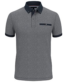 Men's Slim-Fit Burr Polo Shirt