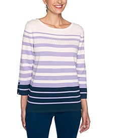Petite Wisteria Lane Striped Sweater