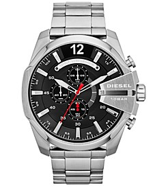 Men's Chronograph Mega Chief Stainless Steel Bracelet Watch 59x51mm DZ4308