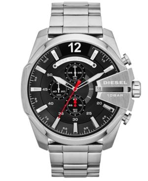 Diesel Men's Chronograph Mega Chief Stainless Steel Bracelet Watch 59x51mm DZ4308