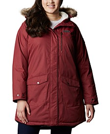 Plus Size Suttle Mountain™ Hooded Faux-Fur-Trim Long Insulated Jacket