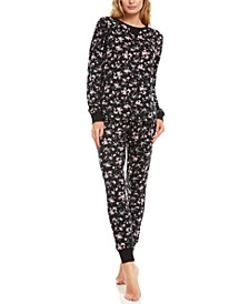 Floral Nikrooz Collection Maddie Printed Hacci Pajama Set