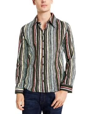1960s Mens Shirts | 60s Mod Shirts, Hippie Shirts Collectif Mens Bamboo Striped Shirt $70.00 AT vintagedancer.com