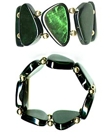 Gold-Tone Resin Shell Stretch Bracelet, Created for Macy's