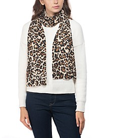 Cashmere Leopard-Print Muffler Scarf, Created for Macy's