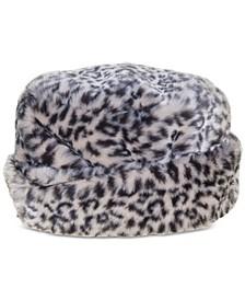 Faux-Fur Cuffed Cloche Hat