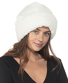 INC Faux-Sherpa Beanie, Created for Macy's