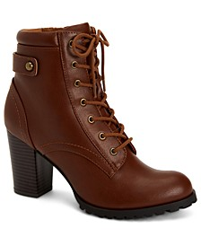 Cassyn Lace-Up Ankle Booties, Created for Macy's