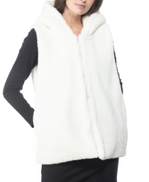 Inc International Concepts Inc Faux-fur Hooded Vest, Created For Macy's In Ivory