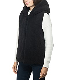 INC Faux-Fur Hooded Vest, Created for Macy's