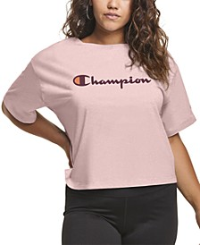 Plus Size Cropped Logo T-Shirt