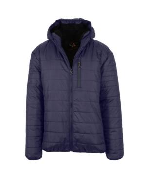 Men's Sherpa Lined Hooded Puffer Jacket