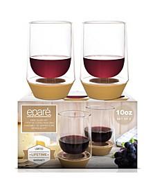 10-Oz. Wine Glasses, Set of 2
