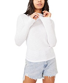 Women's Leona Lettuce Edge Long Sleeve Top