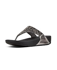 Women's Lulu Leopard-Crystal Wedge Sandal