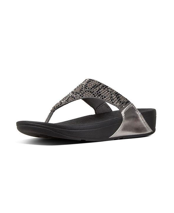 FitFlop Women's Lulu Leopard-Crystal Wedge Sandal