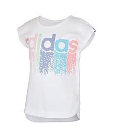 Big Girls Short Sleeve Slit T-shirt