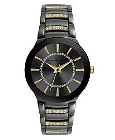Women's Gunmetal Gold-tone Metal Alloy Bracelet Watch, 32 mm