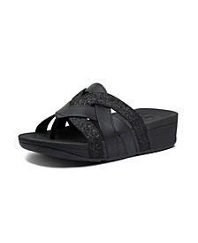 Women's Varont Glitter Toe-Thong Wedge Sandal