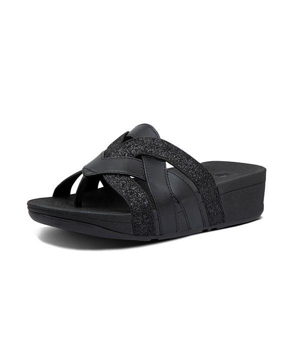 FitFlop Women's Varont Glitter Toe-Thong Wedge Sandal