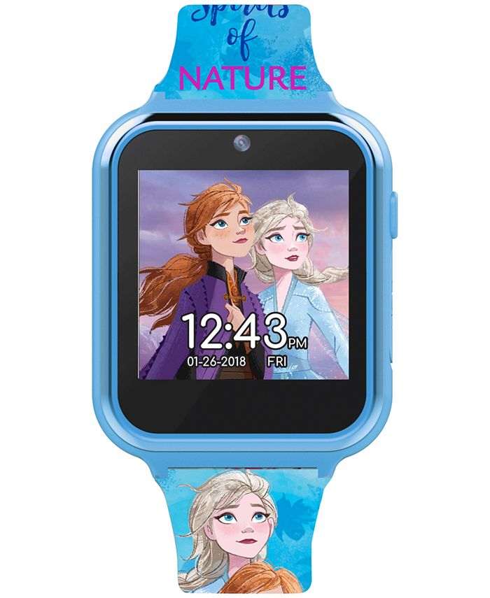 Accutime - Kid's Frozen 2 Blue Silicone Strap Touchscreen Smart Watch 46x41mm