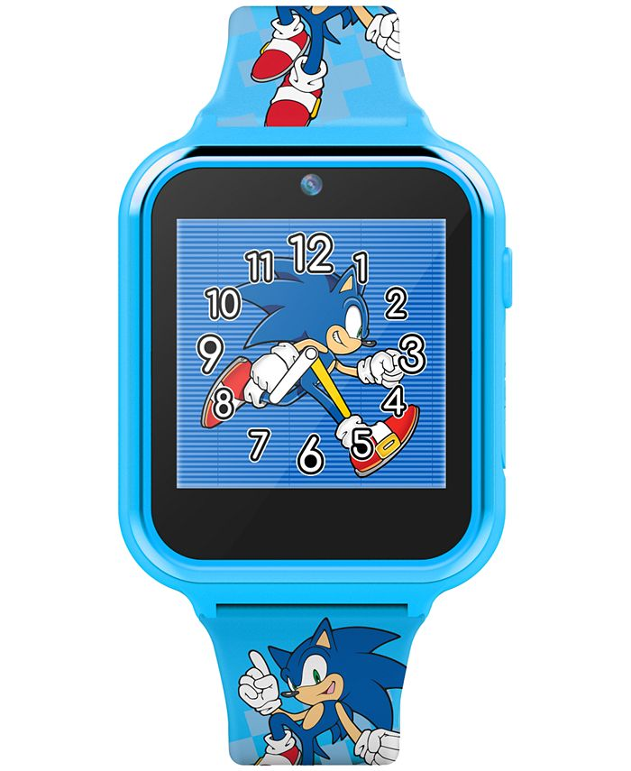 Accutime - Kid's Sonic Blue Silicone Strap Smart Watch 46x41mm