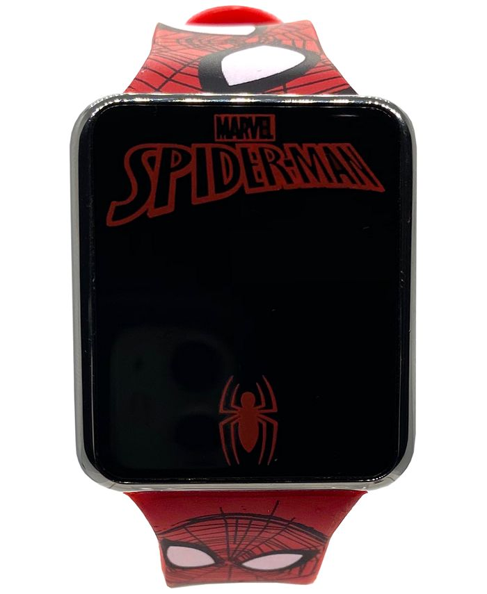 Accutime - Kid's Spiderman Red Silicone Strap Touch Screen Smart Watch 36x33mm