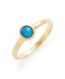 14K Gold Plated Nola Turquoise Gemstone Ring